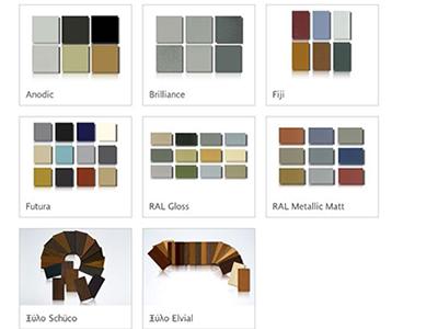συστήματα αλουμινίου & pvc γκλαβάς - χρώματα αλουμινίου