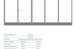 Γυάλινες Πτυσσόμενες Πόρτες F4 Elit glavas aluminium pvc systems