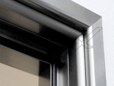 συστήματα αλουμινίου & pvc γκλαβάς - γυάλινη πόρτα με οβάλ κάσα