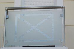 Κάγκελο με τζάμι 11 glavas aluminium pvc systems