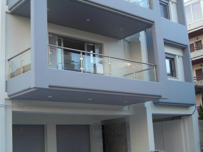 συστήματα αλουμινίου & pvc γκλαβάς - railings with glass