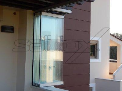 συστήματα αλουμινίου & pvc γκλαβάς - πτυσσόμενες πόρτες f6