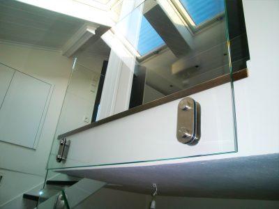 συστήματα αλουμινίου & pvc γκλαβάς - γυάλινο κάγκελο με μετωπική στήριξη l200