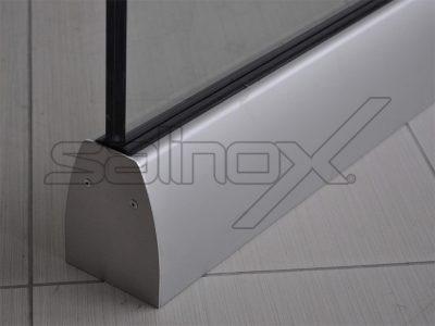 συστήματα αλουμινίου & pvc γκλαβάς - γυάλινο κάγκελο sb7060