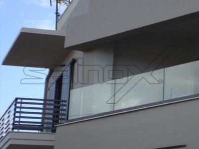 συστήματα αλουμινίου & pvc γκλαβάς - γυάλινο κάγκελο sb8010