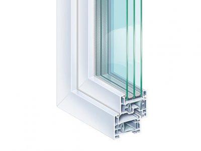 συστήματα αλουμινίου & pvc γκλαβάς - kömmerling 76 ad