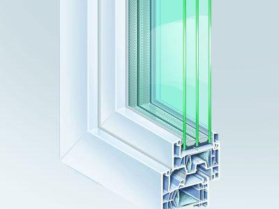 συστήματα αλουμινίου & pvc γκλαβάς - kömmerling 76md